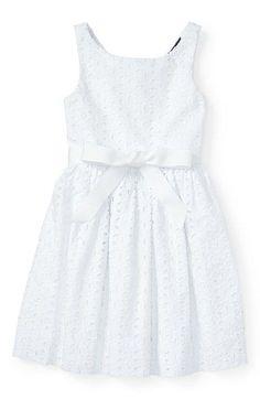 Eyelet lace toddler dress