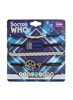 Share 'em with your Whovian friends! // Doctor Who Time Lord Bracelet Set