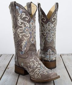 Corral Sequin Square Toe Cowboy Boot - Women's Shoes | Buckle