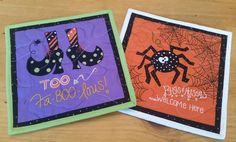 Check out this item in my Etsy shop https://www.etsy.com/listing/251570048/halloween-mug-rugs-set-of-2-snack-mats