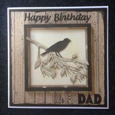 Birthday card using bird die