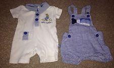 Baby boys summer dungarees romper suits Next & Peter Rabbit Newborn