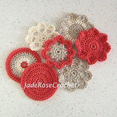Crochet  Pattern  Flower Coasters PDF506 by JadeRoseCrochet, $4.00