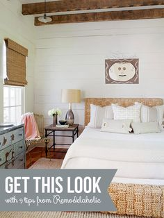 Get This Look: Neutral Rustic Bedroom   9 tips from Remodelaholic.com