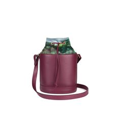 d978a7e41f Bucket Bag in Pebbled Burgundy with Gold Leather Lining