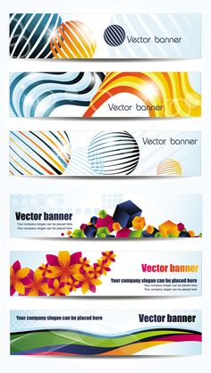 Cool banner design template vector graphic 7d18784b3