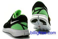 Verkaufen billig Herren Nike Free Run 2 Schuhe (Farbe:vamp-schwarz,innen-grun,Logo,Sohle-weiB) Online in Deutschland.