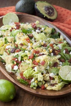 Your favorite sandwich made into a healthy BLT Chopped Salad with Avocado and topped off with a sweet lime vinaigrette dressing!