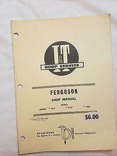 1948 ferguson tea20 rare vintage it shop service manual fe 2 ferguson models te20 to20 to30 i fandeluxe Gallery