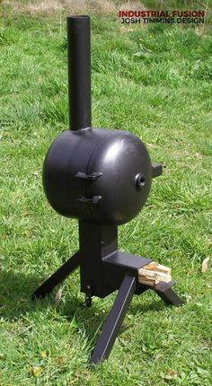 Discover thousands of images about Resultado de imagen para medidas rocket stove Rocket Stove Design, Diy Rocket Stove, Rocket Mass Heater, Rocket Stoves, Gas Bottle Wood Burner, Wood Gas Stove, Diy Wood Stove, Metal Projects, Welding Projects