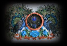 Extraordinary Handcrafted Double Peacock by ChristinaireDesigns, $5200.00