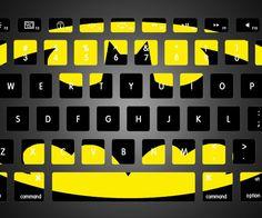 Smarter Designs Vinyl Decal Cute Monkeys Playing Printed Design Keyboard Decals for 11 inch MacBook Air