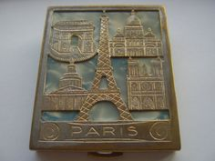 Vintage French Compact and Lipstick Case