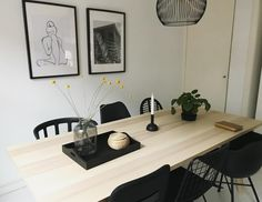 Discover recipes, home ideas, style inspiration and other ideas to try. Ikea Dining Table, Diy Table, Dining Rooms, Ypperlig Ikea, Diy Kitchen, Kitchen Dining, Scandinavian Modern, Decoration, Interior Inspiration