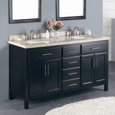 "Ove Decors Milan 60"" Double Bathroom Vanity Set"