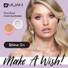 😍Îți dorești o privire seducătoare? Îți îndeplinim dorința! Alege fardurile cremoase Stardust de la Muah pentru o privire plină de senzualitate.  👉Se pot aplica foarte simplu și pot fi folosite de oricine, pentru un make-up profesionist sau pentru un machiaj realizat acasă.      #CupioBeauty #CupioMakeUp #StardustByMuah Make A Wish, Make Up, Cream Eyeshadow, Nails, Finger Nails, Ongles, Makeup, Beauty Makeup, Nail