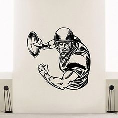 Wall Decal Vinyl Sticker Gym Sport Rugby American Football Player Decor Sb221 ElegantWallDecals http://www.amazon.com/dp/B011LLXC5G/ref=cm_sw_r_pi_dp_H6iYvb00S41N5