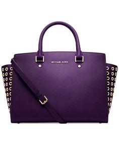 MICHAEL Michael Kors Handbag, Selma Grommet Satchel
