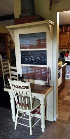 Repurposed old door to desk