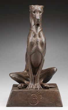 Louise Peterson - The Yogi, one third life-sized bronze edition