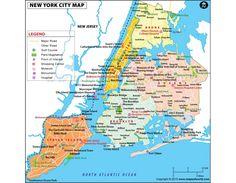 New York City Map in Digital Vector Format