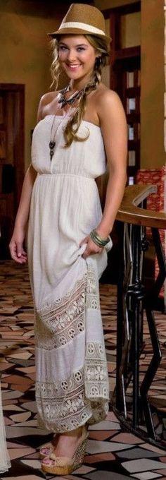 Sweet Journey | Lace Trim Maxi Dress