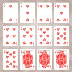 Unsuccessful Kickstarter (never printed) Shards Playing Cards by System 6 and USPCC (Canceled) by Michael Muldoon — Kickstarter. Hearts