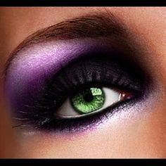 tips. make-up for green eyes