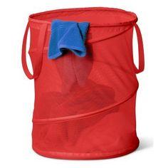 Honey Can Do Large Mesh Pop Open Hamper Red - HMP-01261
