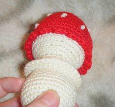 crochet mushroom crafts | Free craft patterns!: Chubby mushroom