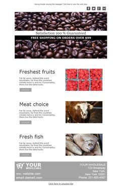 Los mejores productos frescos a tu disposición gracias a las plantillas newsletter de Mailify.