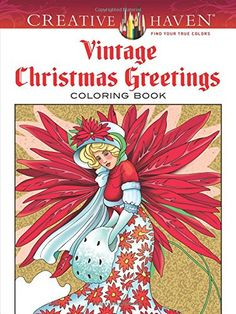 Vintage Christmas Greetings - Adult Coloring Book | The Coloring Place