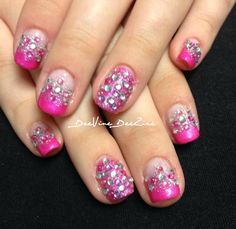 sweet 16 nails , glamour nails