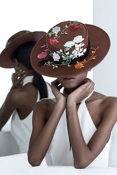 Ethical handmade fashion hats with beautiful embroidery Hat Embroidery, Embroidered Hats, Flower Hats, Ethical Fashion, Beautiful World, Cowboy Hats, Pure Products, Fashion Group, Fashion Hats