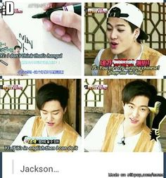Jackson & Youngjae♡♡ i have no idea whats going on, but i find it all hilarious~