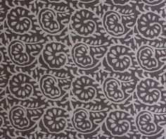 10 Yard Grey Color Cotton Fabric Hand Block Printed Fabric Natural Vagetable Dye Fabric Hand Print Fabric Hand Stamped Indian Fabric HPS#225 by handprintedshop on Etsy