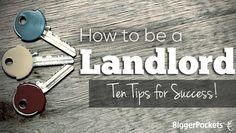 This post will explore top ten tips for learning how to be a landlord. Landlording doesn't need be difficult - success is possible! Income Property, Investment Property, Rental Property, Investment Companies, Real Estate Business, Real Estate Investor, Real Estate Marketing, Real Estate Rentals, Real Estate Tips