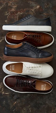 The luxury leather trainer has never looked more decadent Discover the collection at Oliver Sweeney Hand crafted in Italy is part of Dress shoes men - Sneakers Outfit Men, Sneakers Mode, Casual Sneakers, Leather Sneakers, Sneakers Fashion, Casual Shoes, Best Shoes For Men, Shoes Men, Dress Shoes