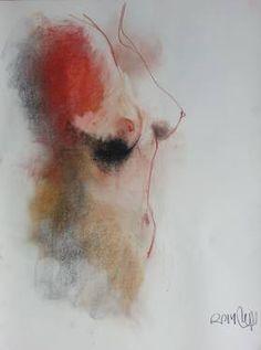 "Saatchi Art Artist Badri Valian; Drawing, ""Nude, Loui Jover"" #art"