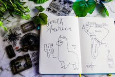 South America Bullet Journal Travel Spread - 8 Bullet Journal spreads to make you feel better.