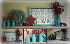 Inspiration - thinking turquoise and red in the kitchen...