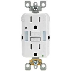 Leviton 15 Amp 125-Volt Combo Self-Test Duplex Guide Light and Tamper Resistant GFCI Outlet, White R02-GFNL1-00W at The Home Depot - Mobile