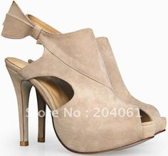 Dont miss out of these Styles Suede Shoes, Women's Shoes Sandals, Wholesale Shoes, Ankle Strap, Peep Toe, High Heels, Beige, Poker, Dental