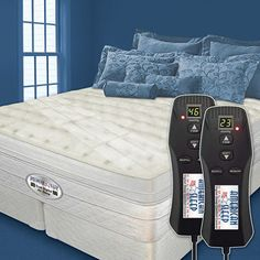 Dual digital sleep 6 ultra pillowtop air bed, BEST BED IN THE WORLD, especially if you have problem with your back. King Beds, Queen Beds, Top Air, Best Mattress, Adjustable Beds, Bed Styling, Comforter Sets, Bedding, Bedroom Styles