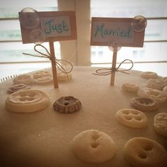 Cute as a button... #weddingcaketopper #weddingcake #buttons #rusticweddingcake #englishcountrywedding #weddingbunting #tablescape #ivory #vintage #rustic #englishwedding #weddingvenue #venue #venuestyling #venuedecor #weddingdecor #weddingdecoration #rusticstylewedding #vintagestylewedding #rusticwedding #rusticstylewedding