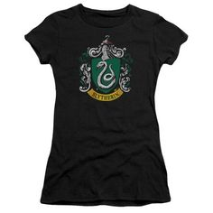 Boys/' Harry Potter Slytherin Short Sleeve Graphic T-Shirt Black XS S M L XL