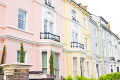 Pastel houses in Primrose Hill by I Want You To Know UK Fashion Blog, via Flickr