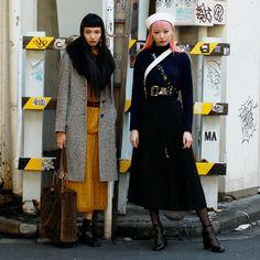Fernanda Ly y Yuka Mannami Japanese Street Fashion, Tokyo Fashion, Harajuku Fashion, Fashion Models, Fashion Outfits, Fashion Trends, Yuka, Harajuku Mode, Look Boho