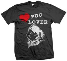 Pug Lover T-shirt by eAppliques on Etsy. love face