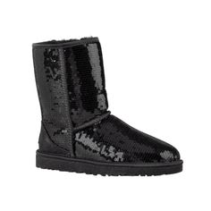 Womens UGG Classic Short Sequin Boot in Black at Journeys Shoes.